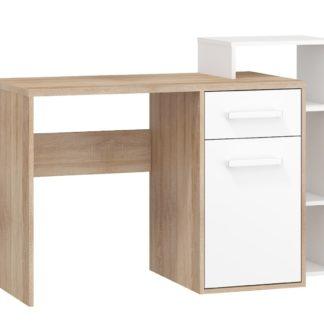 Psací stůl P RIO 04, dub sonoma/bílá