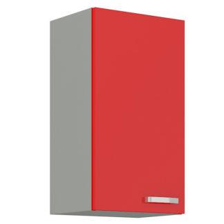 ROSE, skříňka horní 40 G-72 F, šedá / červený lesk