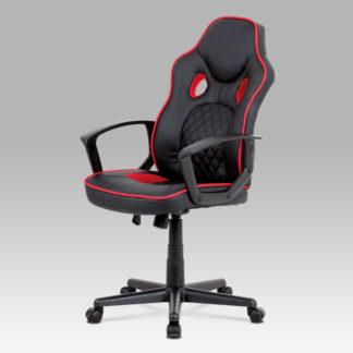 Kancelářské křeslo KA-N660 RED, černá/červená