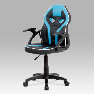 Kancelářská židle KA-N664 BLUE, černá/modrá