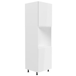 ASPEN, vysoká skříňka pro vestavbu D60P levá, bílá/bílý lesk
