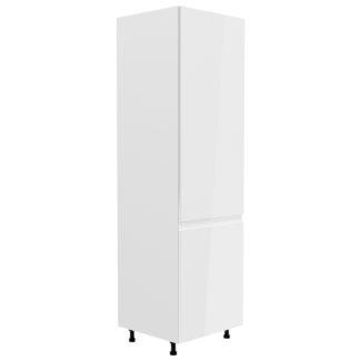ASPEN, skříňka vysoká D60R pravá, bílá/bílý lesk