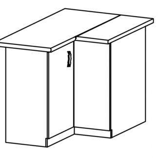 SYCYLIA, skříňka dolní rohová D90N levá, borovice andersen