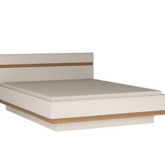 LINATE/92, postel 160 cm, alpská bílá/trufla