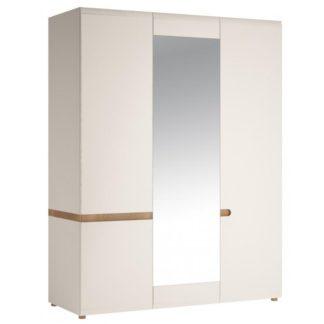 LINATE/22, skříň 3D, alpská bílá/trufla