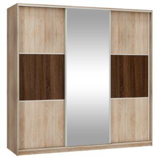 Šatní skříň RICO L 220D se zrcadlem, barva: