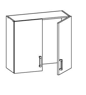 FIORE horní skříňka GC80/72, korpus congo, dvířka bílá supermat