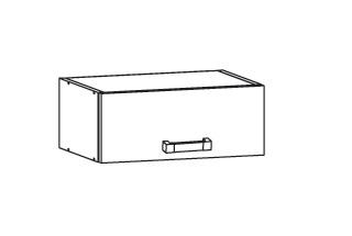 FIORE horní skříňka NO40/23, korpus wenge, dvířka bílá supermat