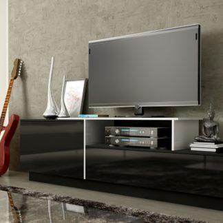 Televizní stolek RTV SIGMA 3C, bílá/černá