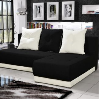 Rohová sedačka INSIGNIA 8, černá/krémová
