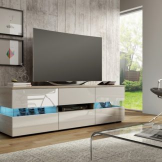 TV stolek INTER, dub sonoma/bílý lesk