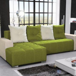 Rohová sedačka TELO 5 levá, zelená/krémová