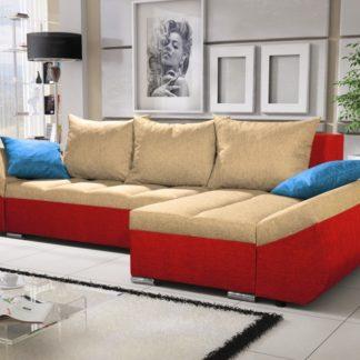 Rohová sedačka KORFU 10, krémová/červená