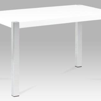 Jídelní stůl AT-2086 WT, lesk bílý/chrom