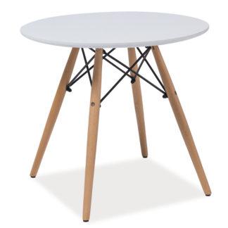 Konferenční stolek kulatý SOHO B, bílá/buk