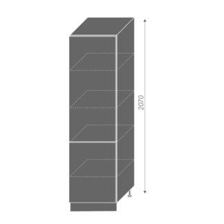 PLATINUM, potravinová skříň D14DP 60, korpus: grey, barva: black