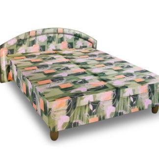 Čalouněná postel MAGDA 160x195 cm, zelená látka