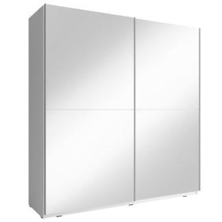 Skříň MIKA III se zrcadlem 150 cm, bílá