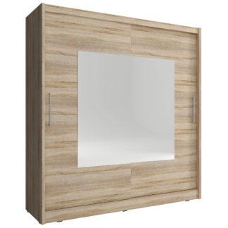 Skříň WIKI IX se zrcadlem 200 cm, dub sonoma