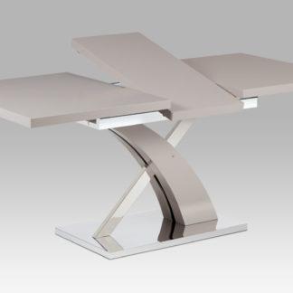Rozkládací jídelní stůl 140+40x90 cm, lanýžový mat / nerez HT-999 LAN
