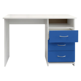 Psací stůl 44, bílá/modrá
