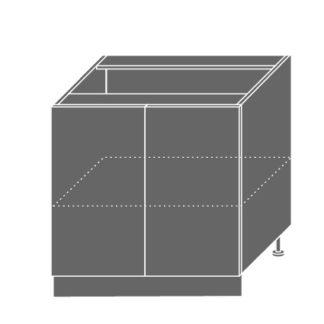 EMPORIUM, skříňka dolní D11 80, korpus: grey, barva: white