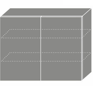 EMPORIUM, skříňka horní W3 90, korpus: lava, barva: light grey stone