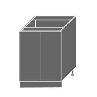EMPORIUM, skříňka dolní D11 60, korpus: bílý, barva: light grey stone