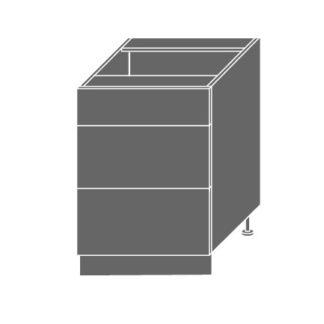 EMPORIUM, skříňka dolní D3m 60, korpus: bílý, barva: light grey stone
