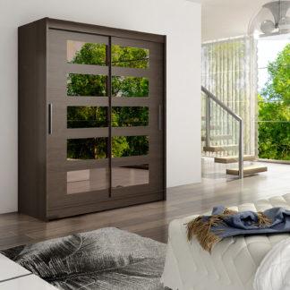 Šatní skříň WESTA V, choco/zrcadlo