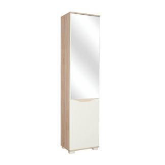 Skříň se zrcadlem APOLON PA1-O, béžový lesk/dub