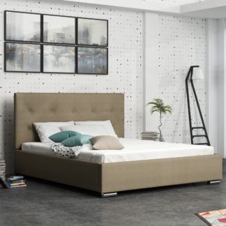 Čalouněná postel SOFIE 1 140x200 cm, béžová látka
