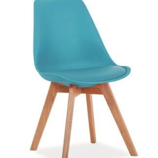 Jídelní židle KRIS, modrá/buk