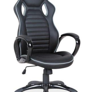 Kancelářské křeslo Q-105,  černá/šedý okraj