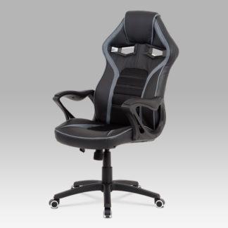 Kancelářská židle KA-G406 GREY, černá látka/šedá látka