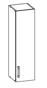 SOLE horní skříňka G30/95 pravá, korpus wenge, dvířka bílý lesk