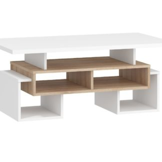 Konferenční stolek S RIO 12, dub sonoma/bílá