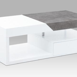 Konferenční stolek AHG-622 WT, bílý mat/beton
