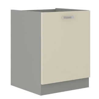 KARMEN, skříňka dolní 60 D 1F BB, šedá / krémový lesk