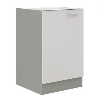 BIANKA, skříňka dolní 40 D 1F BB, šedá / bílý lesk