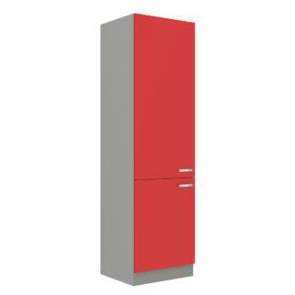 ROSE, skříňka vysoká 60 DK-210 2F, šedá / červený lesk