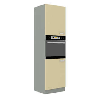 KARMEN, skříňka vysoká 60 DP-210 2F, šedá / krémový lesk