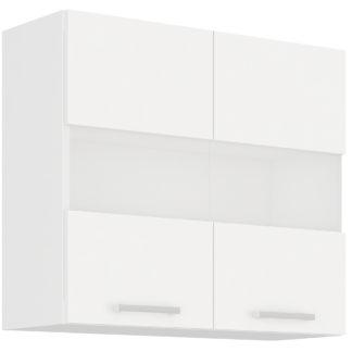 EKO WHITE, horní vitrína 80 GS-72, bílá