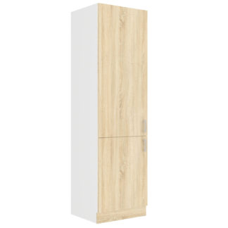 SARA SONOMA, skříňka vysoká 60 DK-210 2F, bílá/dub sonoma