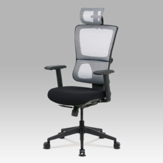 Kancelářská židle KA-M04 WT, černá/bílá