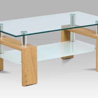 Konferenční stolek AF-1024 OAK, divoký dub/sklo