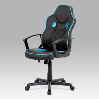 Kancelářské křeslo KA-N660 BLUE, černá/modrá