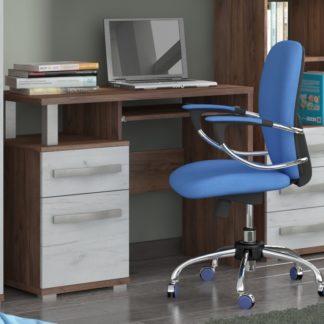 ANGEL PC stůl 1D1S, craft tobaco/craft bílý