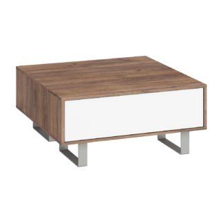 KING 8 konferenční stolek, craft tobaco/bílý lesk