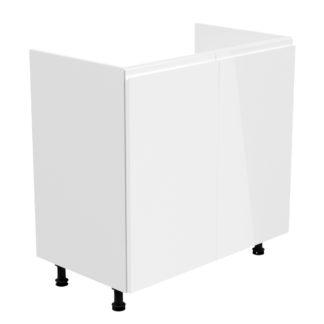 ASPEN, skříňka dolní D80Z, bílá/bílý lesk